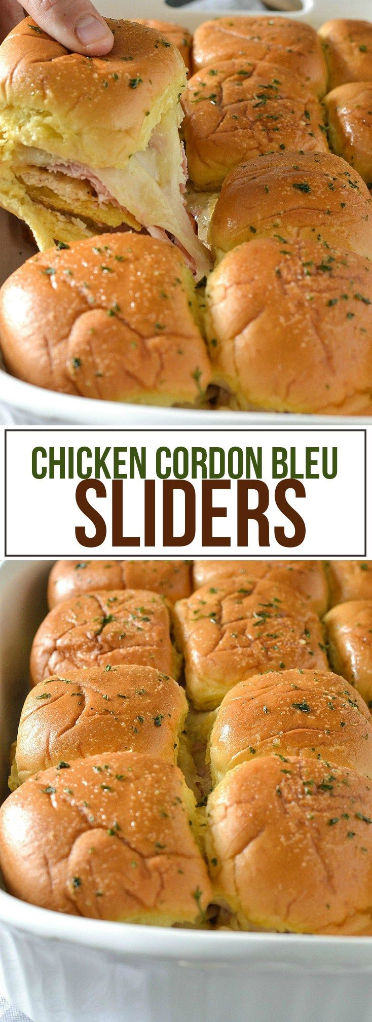#ad Chicken Cordon Bleu Sliders