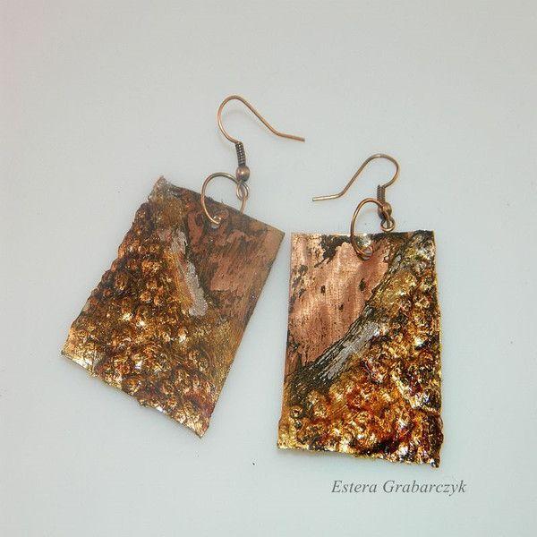 miedziane kolczyki - Estera-Grabarczyk - Kolczyki wiszące