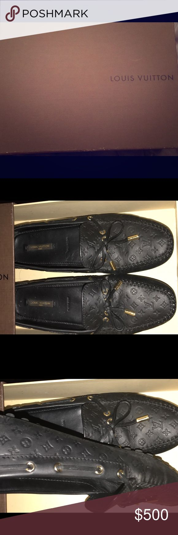 Louis Vuitton 100% authentic leather loafers Louis Vuitton 100% authentic leather loafers (worn a few times) Louis Vuitton Shoes Flats & Loafers