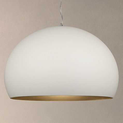 Buy Kartell Fly Soft Touch Pendant Ceiling Light, Medium, White Online at johnlewis.com