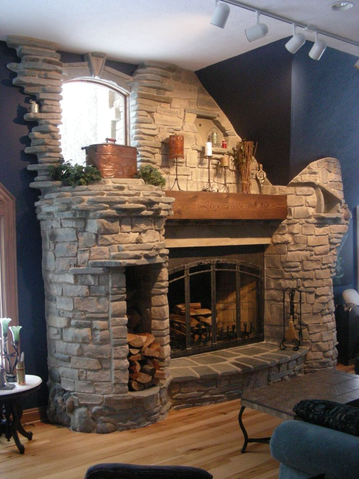 Stone fireplaces pictures foot rumford fireplace natural stone yoder masonry inc lynn - Beautiful corner fireplace design ideas for your family time ...
