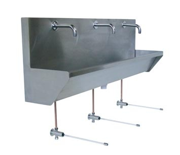 Industrial Trough Sink : ... Commercial bathroom on Pinterest Industrial, Trough sink and Wheels