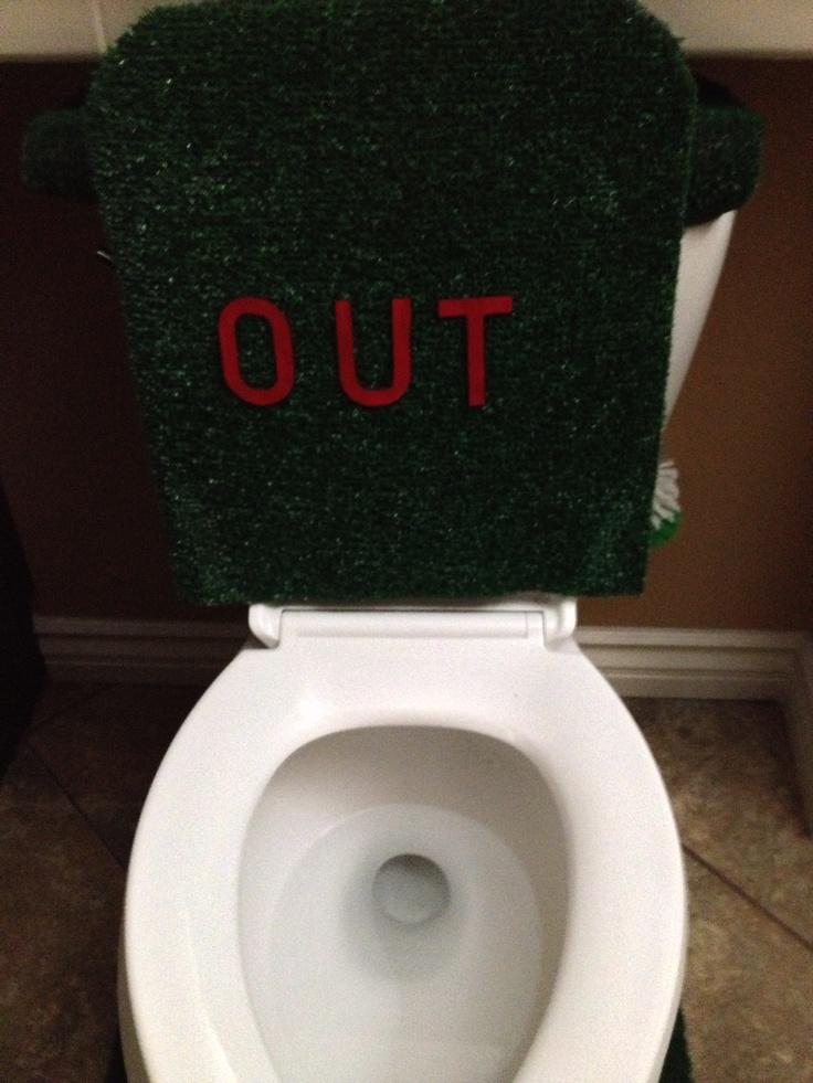 26 best images about baseball on pinterest bavarian for Baseball bathroom ideas