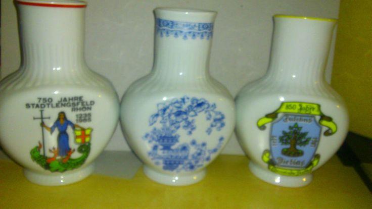 3 Stück Porzellan Vasen (Graf von Henneberg Porzellan-IImenau)