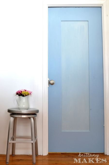 "Chalk Paint door -add a glaze over top to hide ""kid"" marks"