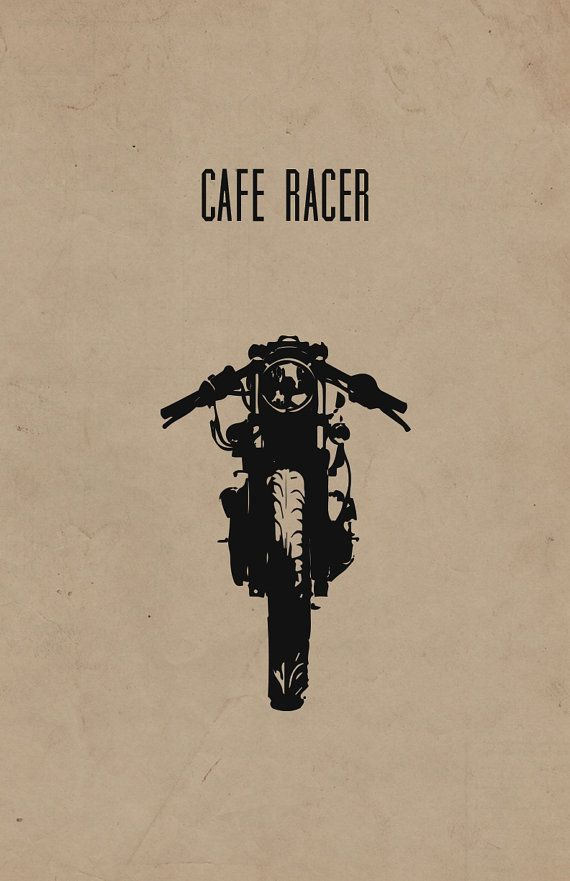 Cafe Racer Motorcycle Print Limited Edition 11x17 in by InkedIron
