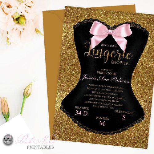 16 best lingerie shower party ideas, lingerie party images on, Party invitations
