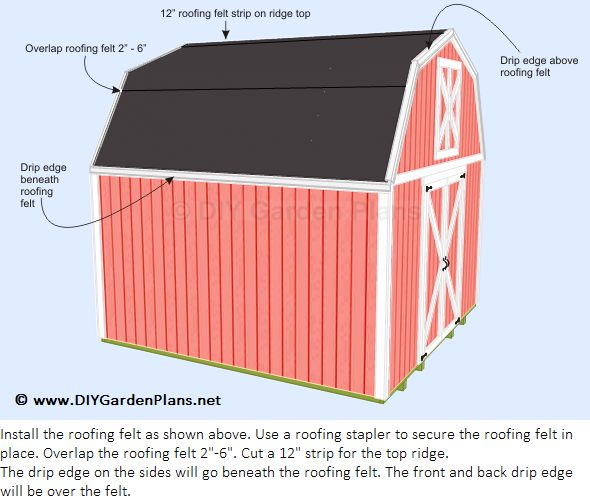 25 best ideas about shed roof felt on pinterest roofing for How to shingle a shed