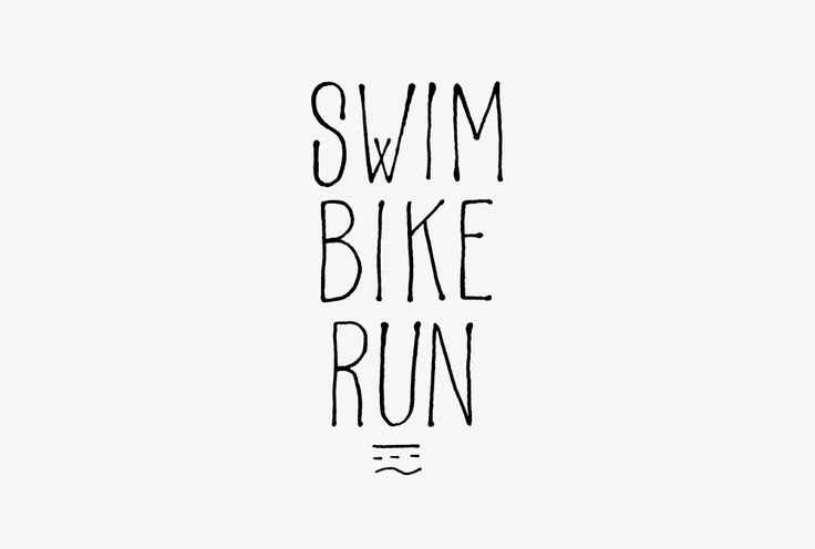 Swim Bike Run - Triathlon Store - Logo - Design by Les Athlètes