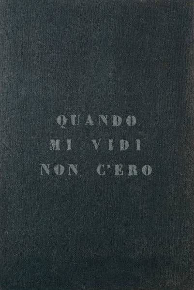 vincenzo agnetti, autoritratto 1971