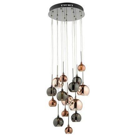 Dar AUR1564 Aurelia 15 Light Bronze | Copper Cluster Pendant Ceiling Light from Lights 4 Living