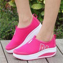 Высота Увеличение 2016 Женщин Туфли Летние женские Случайные Платформа Обувь Мода Квартиры Обувь Для Женщин Свинг Клинья Обувь X0280(China (Mainland))
