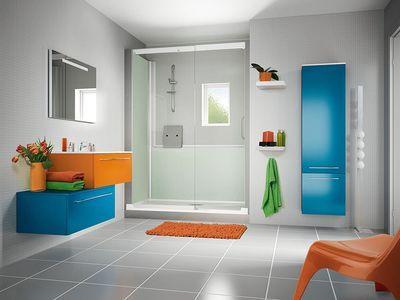 Une douche grand format deux portes