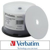 Verbatim DVD-R Datalifeplus Everest/p-55 White Thermal Hub Printable 16x by Verbatim. $34.00. Verbatim DataLifePlus brings you high performance thermal hub printable DVD-R media. Works well with Rimage Everest and TEAC P-55 printers. Description Verbatim features high compatibility and reliability making it one of the most trusted brands in DVD-R media. White thermal Everest and P-55 printable surface allows for outstanding photo-realistic prints. DataLifePlus...