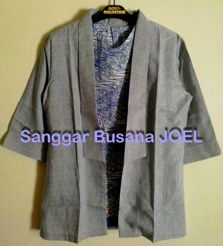 Semi Blazer Batik Embos Abu-abu (Variasi Inner Bat...