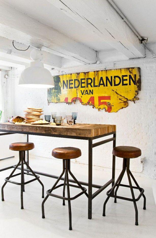 Meer dan 1000 afbeeldingen over keuken op pinterest for Goedkope industriele eetkamerstoelen