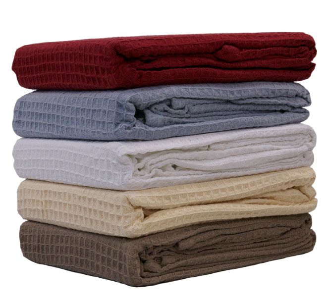 Cotton Waffle HILTON - 100% Cotton, Waffle weave, Recommended gentle, warm machine wash separately before use, Flat dry in shade, Regular airing is recommended - #blankets