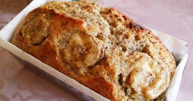 バター不使用。お豆腐効果でモッチリ・しっとり。アールグレイの香りが華やかな少し大人のバナナパウンドになりました