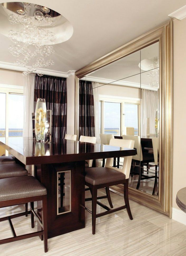 Fascinating Dining Room Design With Wall Mirrors Ideas Dekorasi