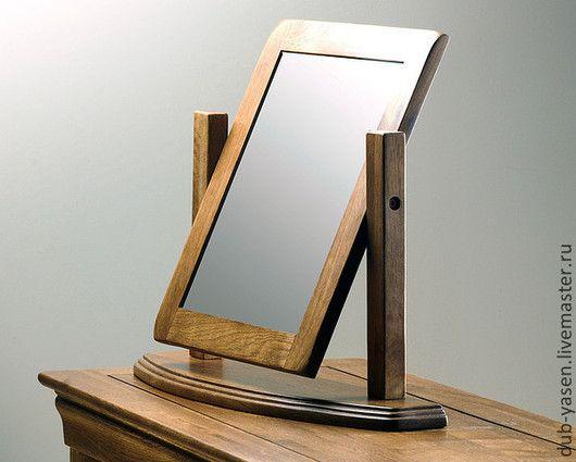 """Зеркала ручной работы. Ярмарка Мастеров - ручная работа. Купить Зеркало из дуба настольное """"Франция"""". Handmade. Коричневый, Зеркало на заказ"""