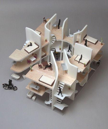 NE apartment by Yuji Nakae, Akiyoshi Takagi and Hirofumi Ohno
