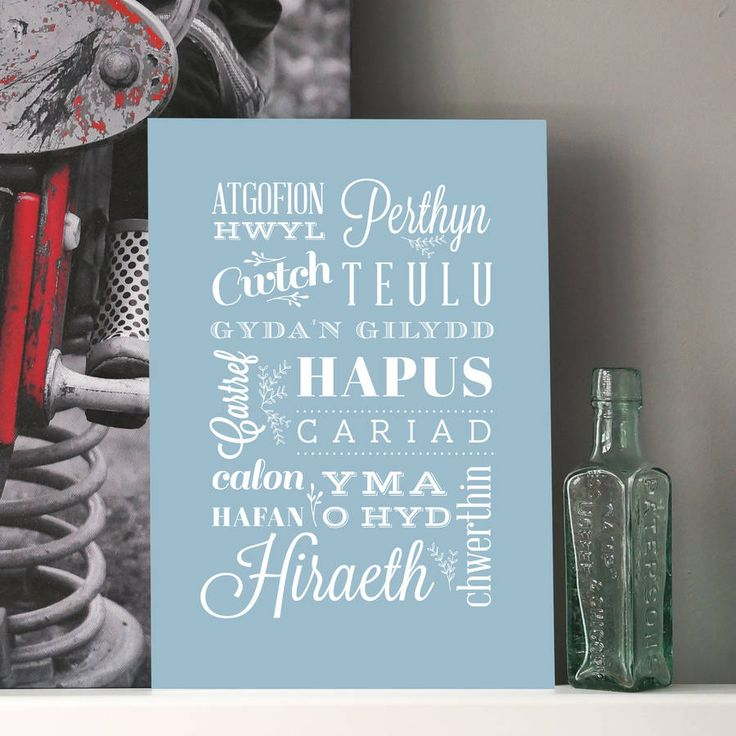 Welsh 'Home' Typography Art Print from notonthehighstreet.com