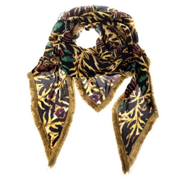 Triangular scarf, printed triple georgette