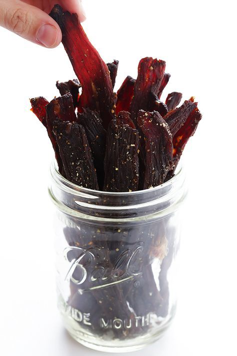 This truly is the BEST beef jerky recipe! It's easy to make, marinated with delicious savory flavors (no added sugar!), and it's totally irresistible!