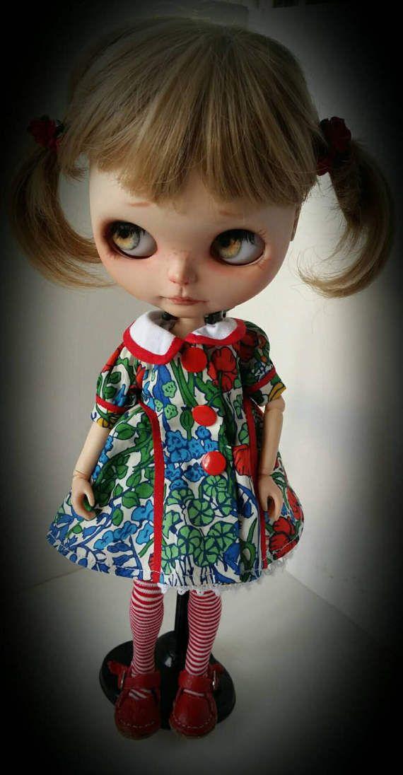 Poppytot tana trávník šaty pro Blythe