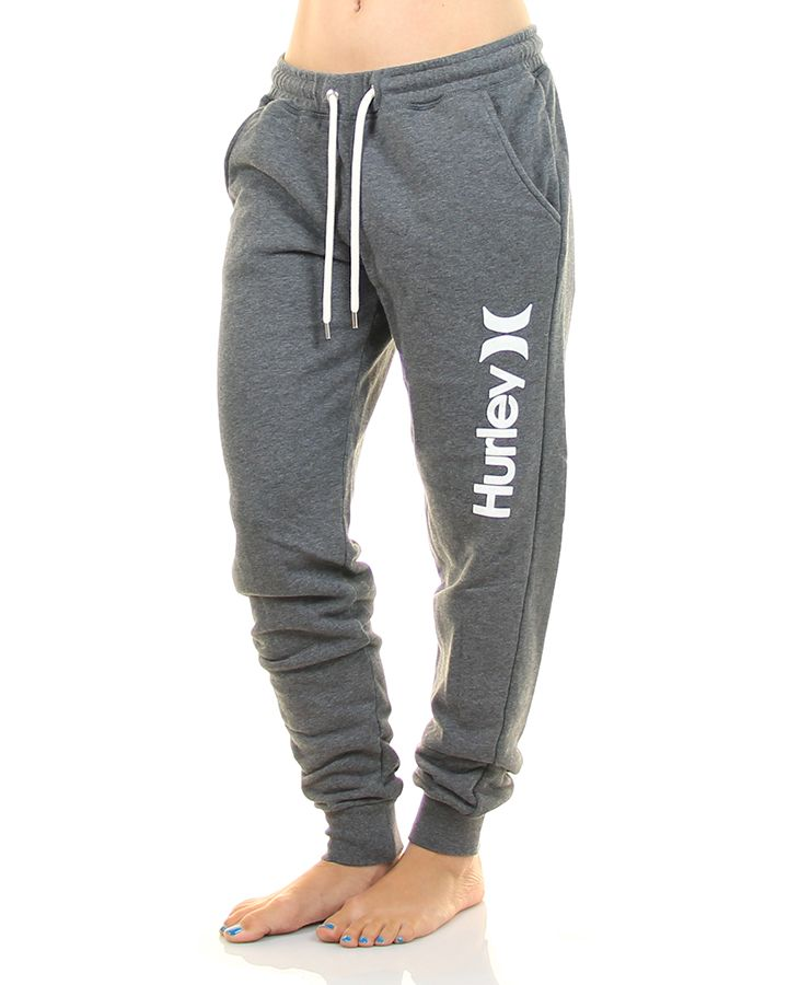 Inseption - Hurley - Womens - Cuffed Track Pant - Dark Heather Grey