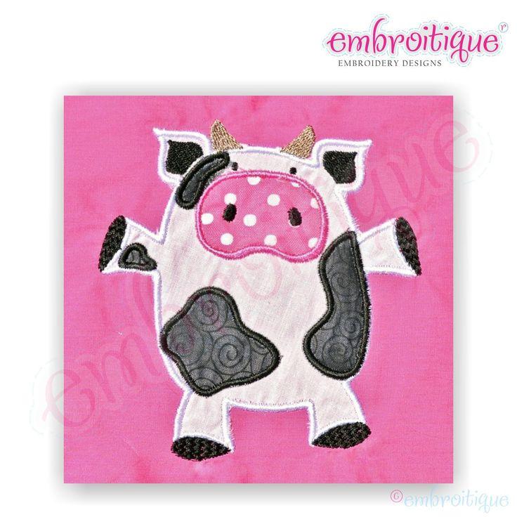 Cow Applique Embroidery Designs
