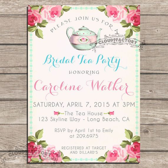Bridal Tea Party Shower Invitations Printable by Cloud9Factory, $20.00