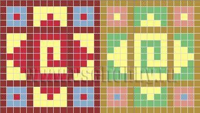 схема вышивки крестом для мозаики своими руками