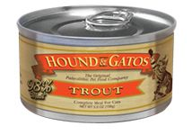 Hound & Gatos Grain Free 98% Trout Canned Cat Food 5.5oz