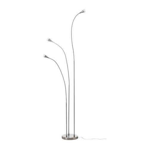 TIVED LED floor lamp IKEA Flexible arm; makes it easy to direct the light according to need. Slim design; easy to place in small spaces. $129