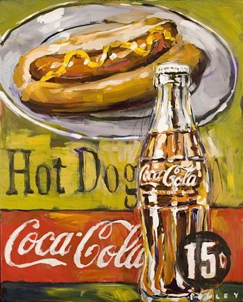 Steve's Hot Dogs and Coke painting is featured in new Coca Cola and Assouline book.