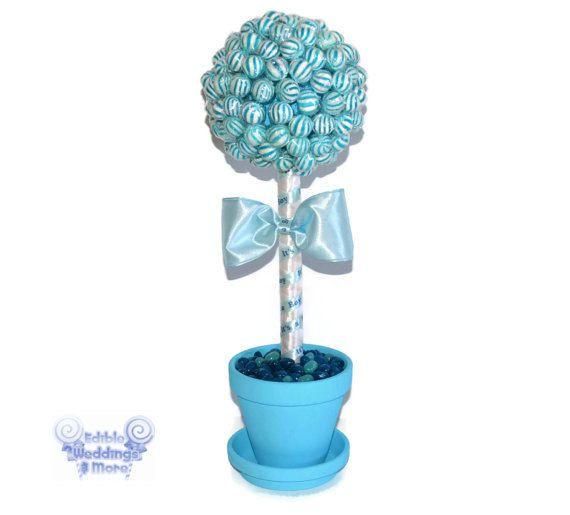 Blue Lollipop Baby Shower Topiary Its a Boy by EdibleWeddings