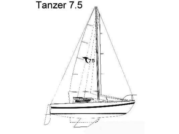 1984 Tanzer 7.5 line drawing