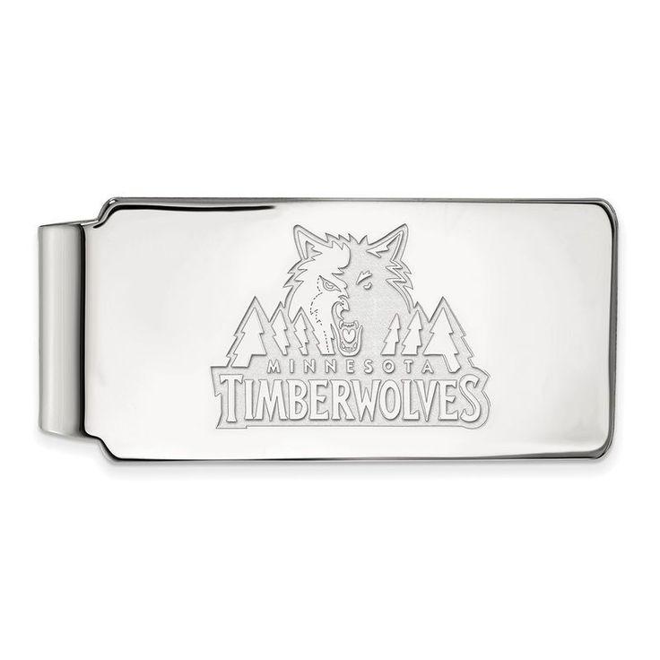 Minnesota Timberwolves Sterling Silver Money Clip