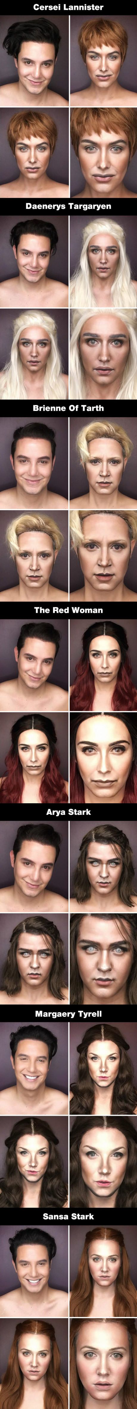 This Guy Transform Himself Into 7 Major Characters From Game of Thrones Using Only Makeup (By Paolo Ballesteros)