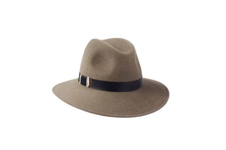 The Willow Fedora Collection   Mink   Leather & Partridge Feather Band  www.penmayne.com #fedora #hats #accessories