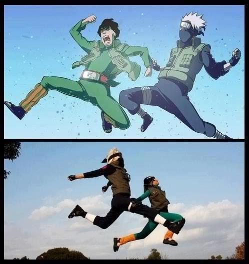 Kakashi & Gai from Naruto. I....have no words. Cosplay