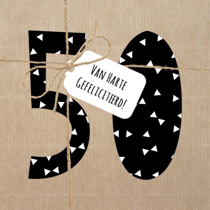 Verjaardagskaart 50 jaar Touw, verkrijgbaar bij #kaartje2go voor €1,89