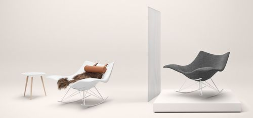 Organic design armchair / plastic / in wood / outdoor STINGRAY by Thomas Pedersen Fredericia Furniture