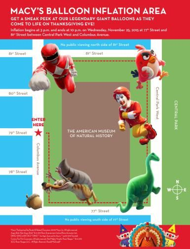 Macy's Thanksgiving Parade Balloon Inflation Area Map - Macy's Inc