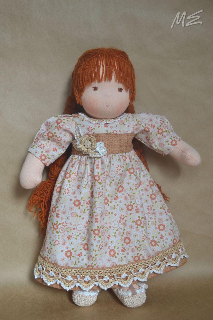 вальдорфская кукла Поленька, waldorf doll