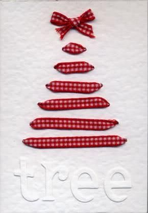 DIY Ribbon Christmas Tree Card ♥