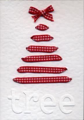 DIY Ribbon Christmas Tree Card ♥