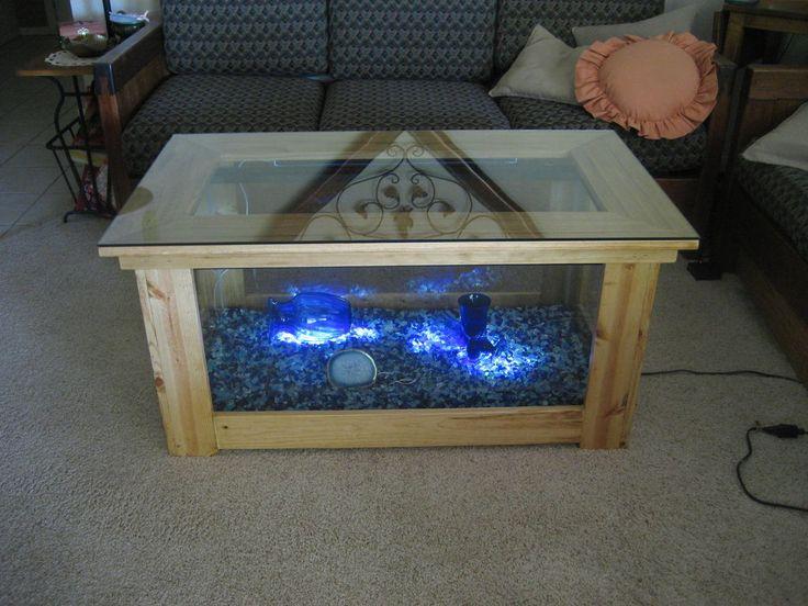 Aquarium coffee table coffee table plans table plans for Fish tank coffee table