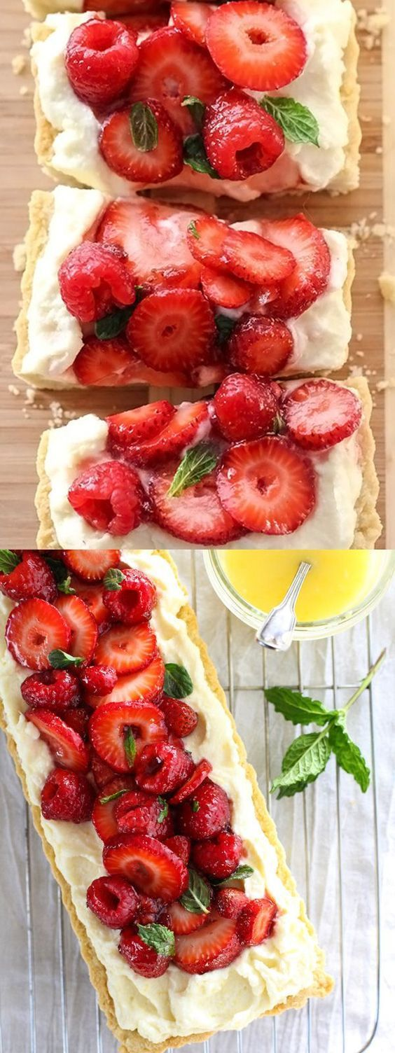 Berry Tart With Lemon Curd Mascarpone | foodiecrush.com